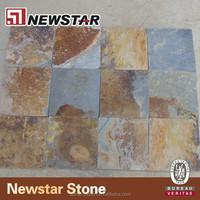 Natural split exterior floor paving stone interlocking outdoor slate tile