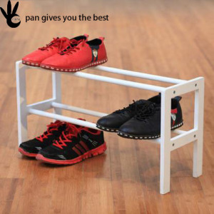 Two layer or customized waterproof outdoor organizer bamboo shoe rack
