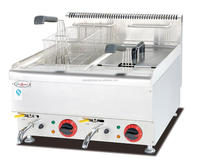 Hot Sales Counter Top Electric Fryer(2-Tank & 2-Basket) DF-665