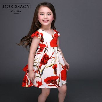 0a9bc529b printed frock for 1 year old hot spring princess dress arabic kaftans for  girl's wholesale 11