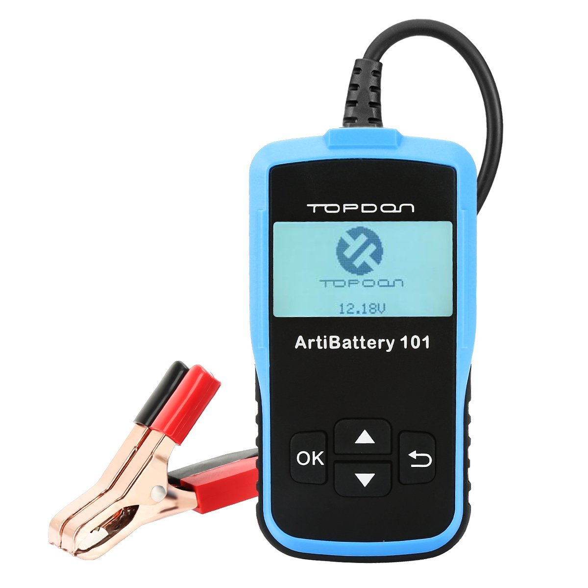 TT TOPDON Auto Battery Tester, Digital Battery Analyzer 8-16V and 100-2000 CCA Car Battery Load Tester for Lead Acid, AGM Flat Plate, Spiral Plate, and GEL Battery
