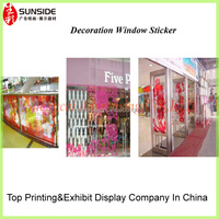 decorative window decals/transparent sticker for glass