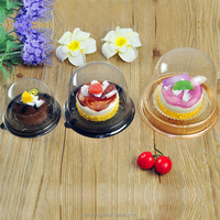 Fancy Clear PET Durable Cupcake Box Picnic Holder Cake Dome Party Favor Box