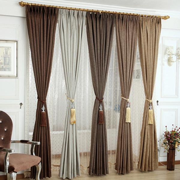 Plain Bedroom Window Curtain Panel