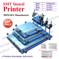Stencil Printer Assembly Production Line Manual SMT Pick and Place Machine Desktop Silk Screen Printers MD-M