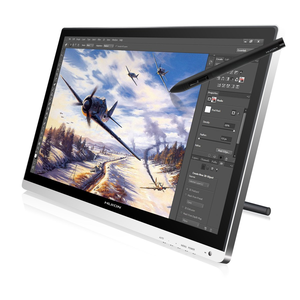 "Updated! Huion GT-220 V2 21.5"" IPS LCD Digital Interactive Pen Tablet <strong>Monitors</strong>"