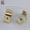 Light gold metal handbag lock,bag fastener