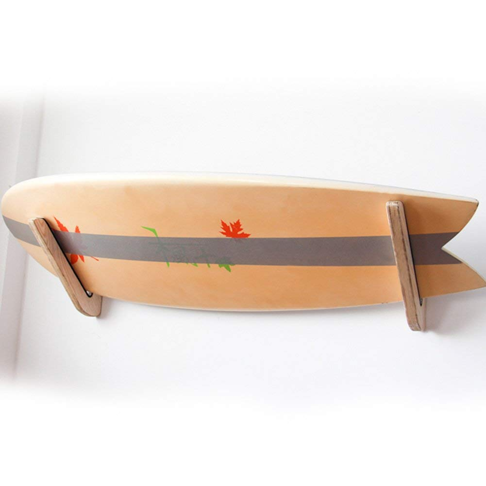 Onefeng Sports Timber Rack Wooden Surfboard Wall Rack For Longboard | Shortboard Storage Mount Rack Works Indoor and Outdoor Display