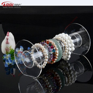 Clear Glass Jewelry Stand Acrylic Bracelet Display Holder