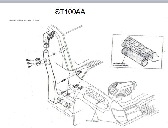 China Auto Accessories Snorkel China Auto Accessories Snorkel