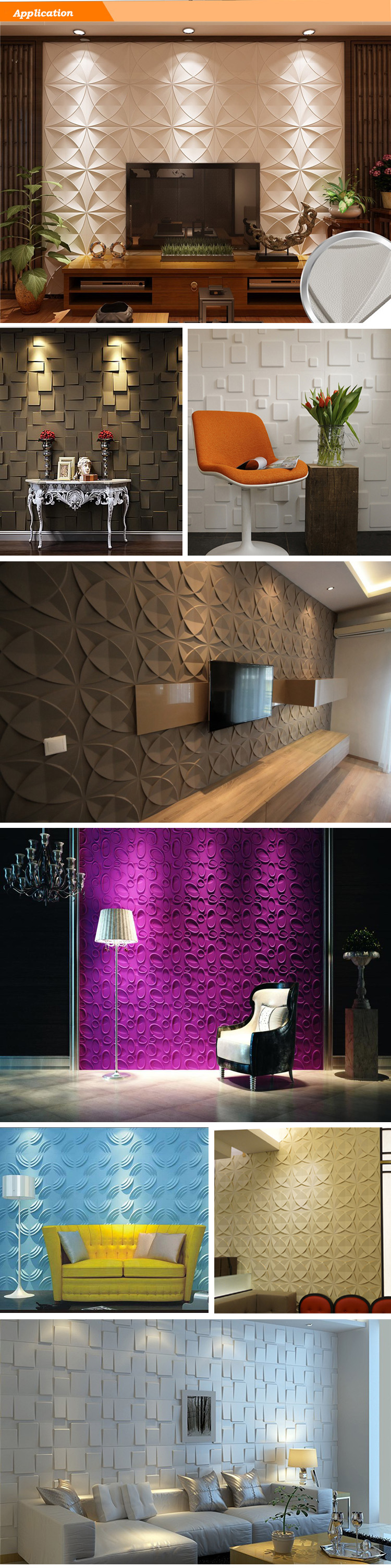 2020 Panama Mexico Colombia 3d Wallpaper Home Decoration panel 3d pared 3D Wall Panel Wallpaper