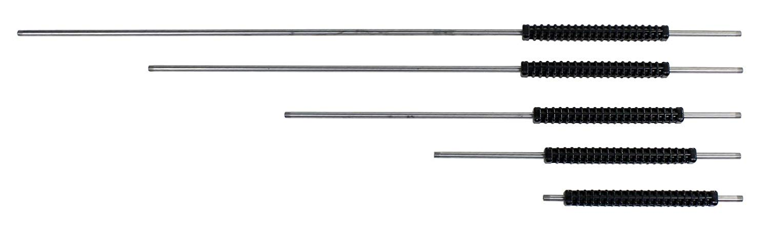 """15.5"""", 24"""", 36"""", 48"""", and 60"""" Stainless Steel Wands with 12""""adjustable grip"""