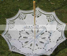 Wholesale Antique battenburg lace wedding parasol and fan set battenburg lace wedding parasol & fan set Battenburg lace parasol