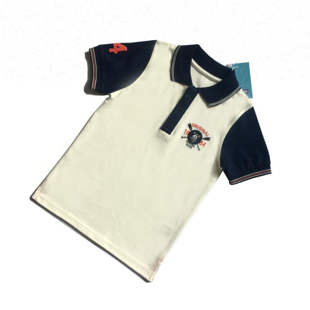 Kids printing T children 100% cotton polo t-shirts
