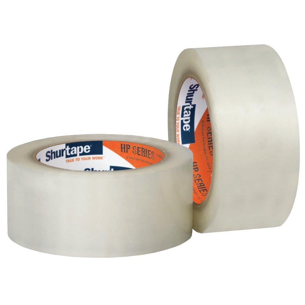 "Shurtape HP200 Production Grade Hot Melt Bopp Film Packaging Tape, 2"" x 110yd Clear Tape (6 pack)"