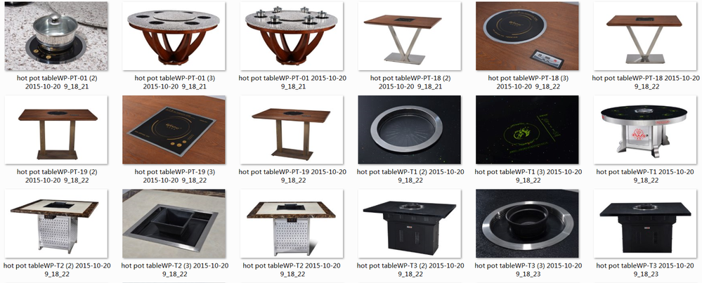 Hot Pot And BBQ Grill Table For Sale-Winpai-4