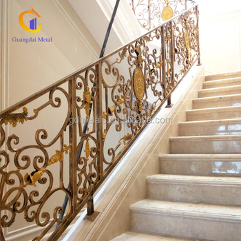 Custom luxury curved interior stainless steel handrail stair balustrade