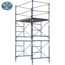 Construction Adjustable Wheel Cross Brace Frame Ladder Scaffolding System