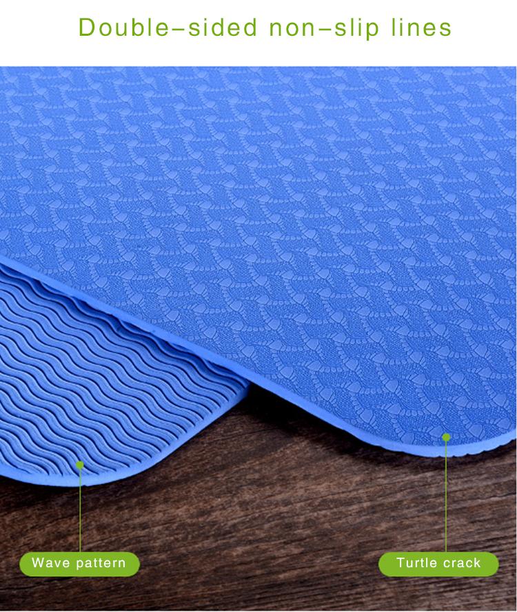 Atacado yoga pilates exercício grosso grande esteiras da ioga do tpe tapete de yoga impresso personalizado para as crianças