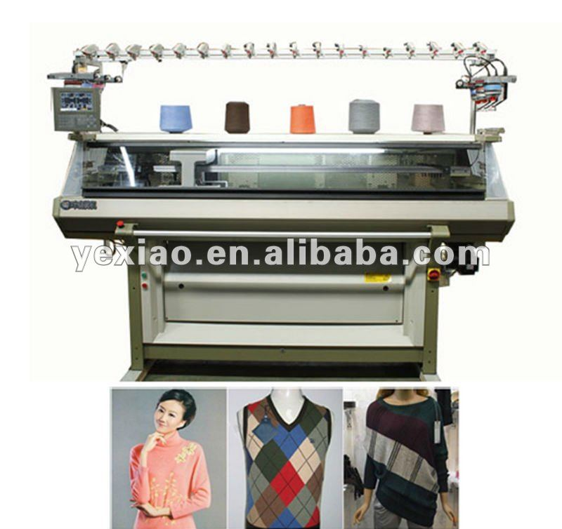 Full functional computeried flat knitting machine