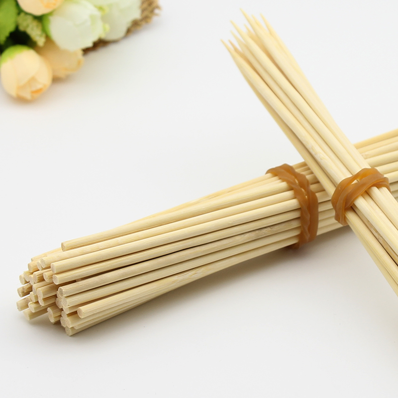 Wholesale Barbeque 180mm Natural Bamboo Double Skewers/sticks