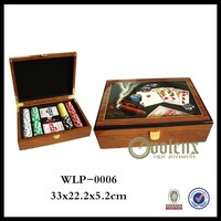 200pcs chips wooden box packing luxury poker chip sets