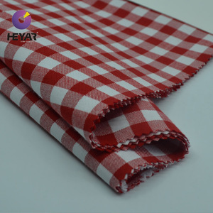 cotton woven yarn dyed twill gingham checked fabric for shirts
