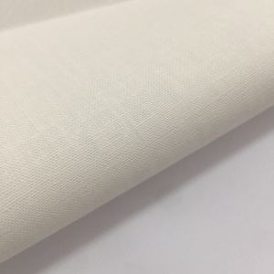 Factory custom high quality white organic cotton hemp fabric in china