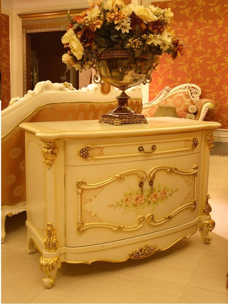 Franc S Elegante Talla De Madera Dormitorio Casa De Lujo Dorado