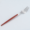 silver red fork