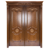 Lowes Villa Entry Magahongany Carving Leafs Swing Solid Wooden Exterior Double Doors