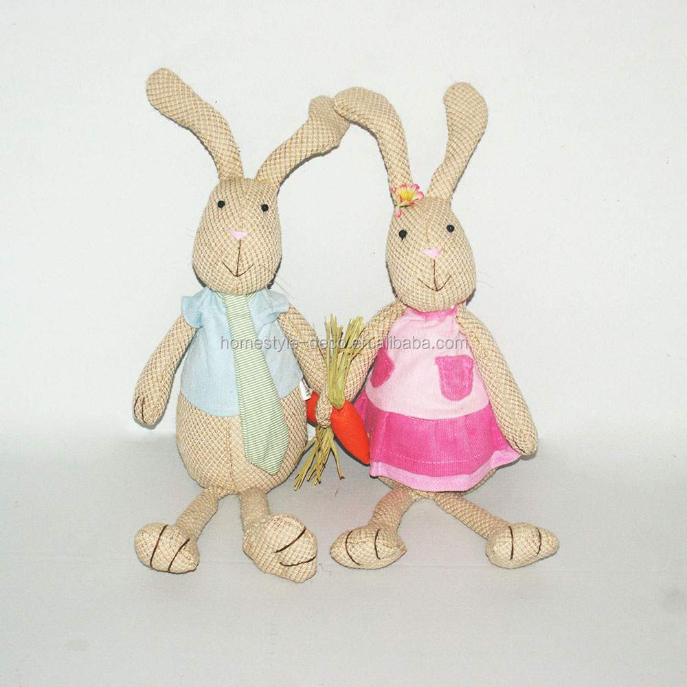 Hot new easter decoration spring gifts easter rabbits boy rabbit girl