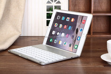 Portable Bluetooth Keyboard with Aluminium Case for iPad Air2 (silver)