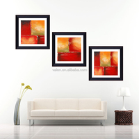 Popular wall hanging glass painting pictures framed art