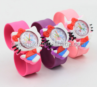 Cartoon gift silicone watch electronic jelly