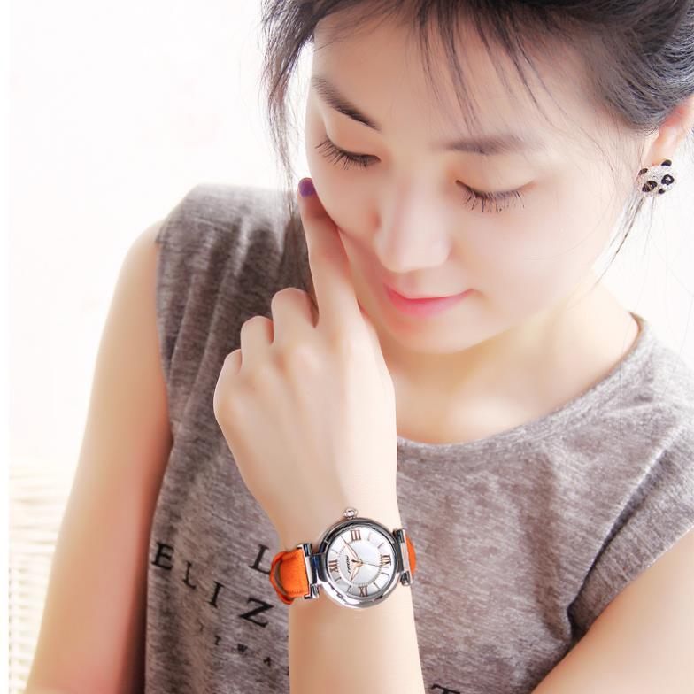 Новые прибытия SINOBI марка платье часы для женщин кожаный ремешок золото женские наручные кварцевые мода водонепроницаемый WA1002