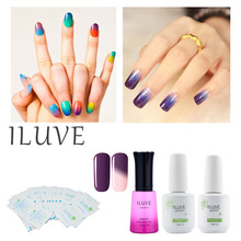 iLuve Nail Gel Polish Temperature Change Nail Polish Color UV LED Gel 12ml peel off gel
