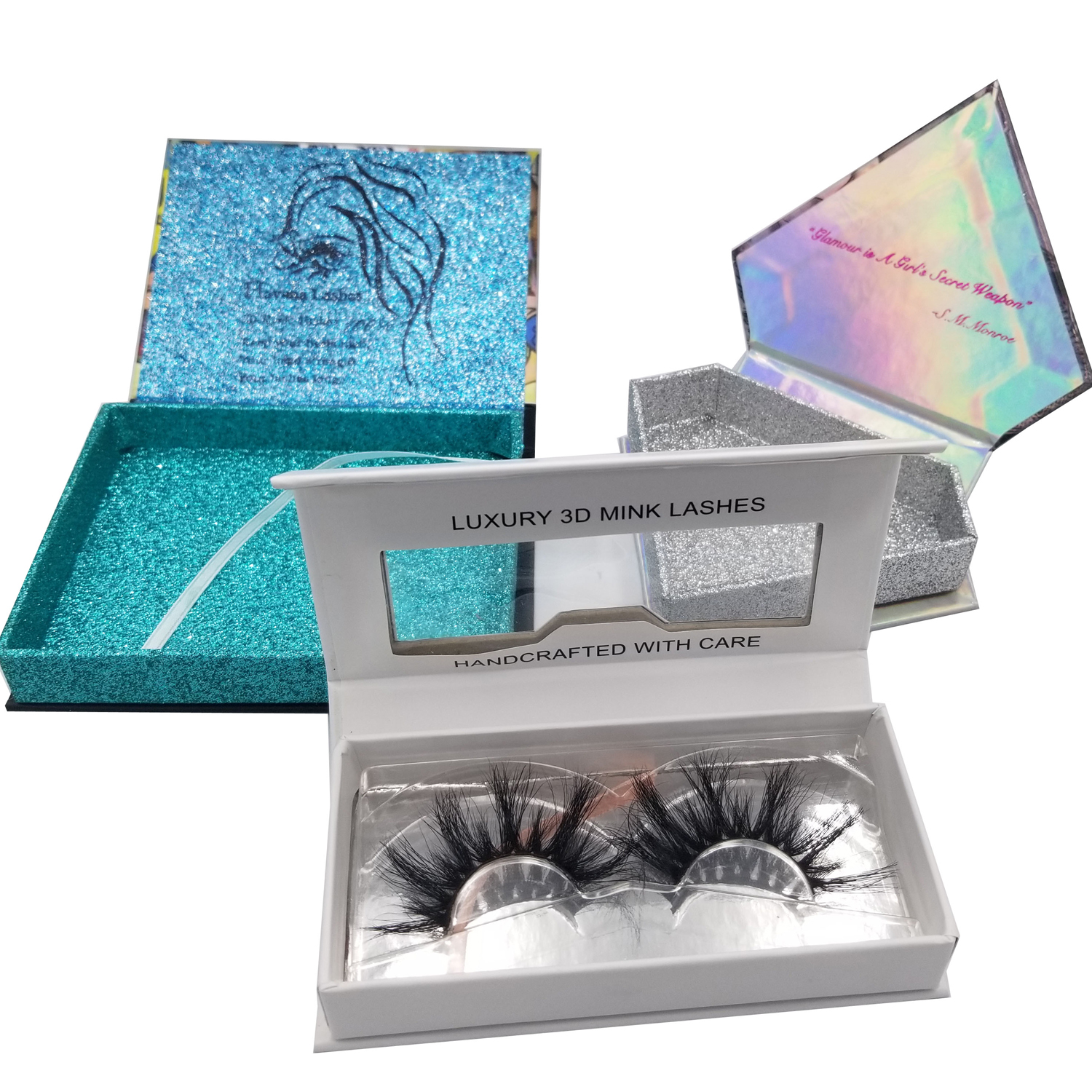 Wholesale 100% mink eyelashes 5D lashes with custom packaging box private logo фото