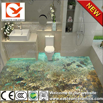 Bathroom tile 3d ceramic floor tile design models tile for bathroom buy bathroom tile designs Bathroom tiles design 3d