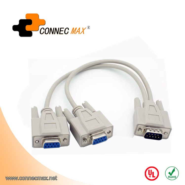 9 Pin Db9 Serial Quot Y Quot Splitter Male Female Female