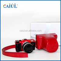 Q10 SLR Camera special holster red Oil skin camera bag for Pentax