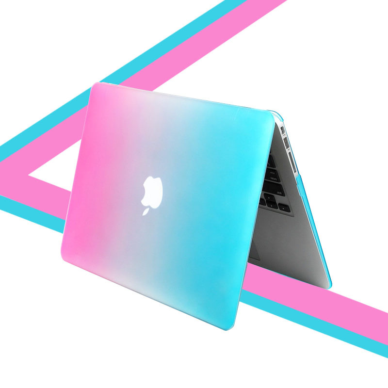 For Mac laptop bag Rainbow Colorful Case For Coque Macbook Pro Retina 13 Case Matte Plastic Funda For Macbook Pro laptop bags