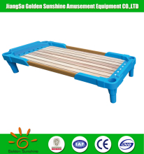 China wholesale high quality kindergarten stackable plastic furniture kids bed