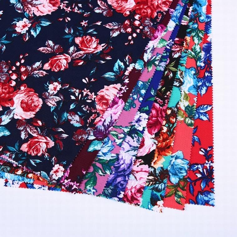 Personalizado bolha impressão malha spandex lycra tecido africano têxtil para vestuário