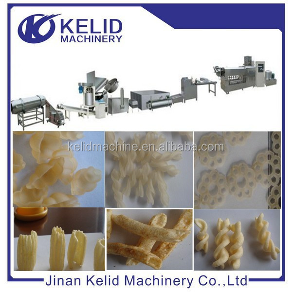 single screw extruder fried pellet chips snack food making machine