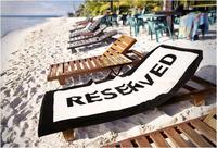 400gsm custom print black brand logo letter white cotton Beach Towel BT-026