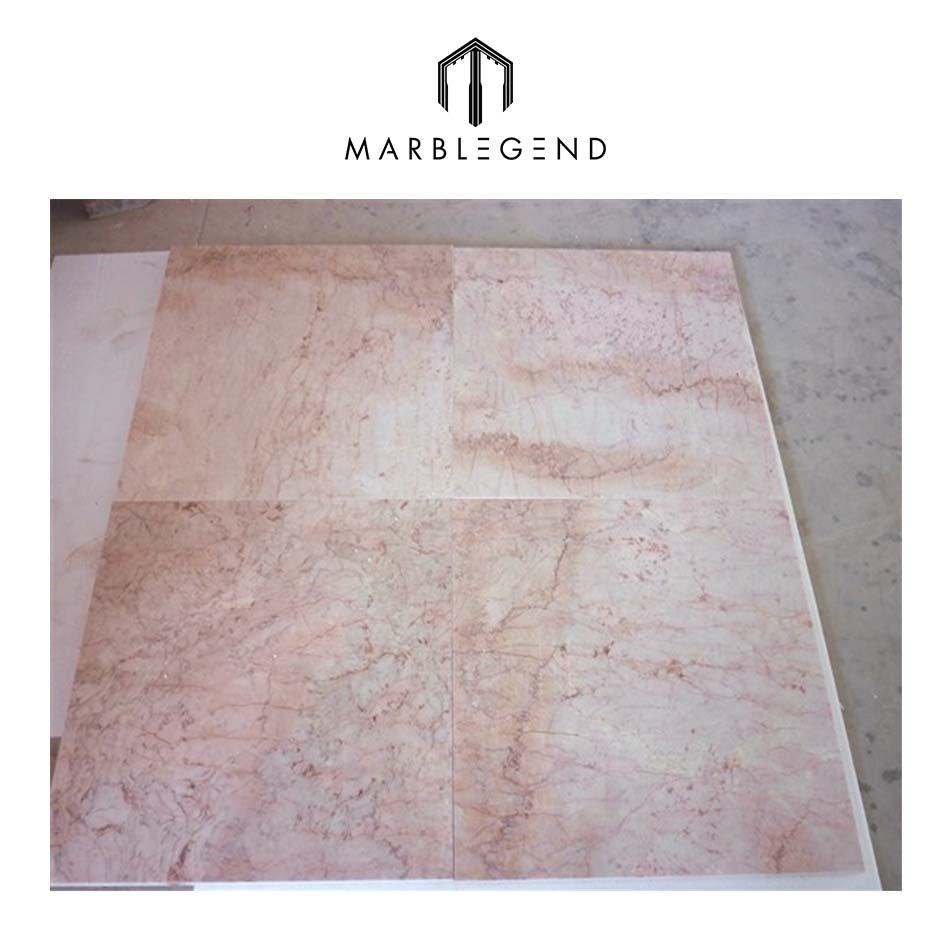 Rose pink marble tiles for flooring and wall