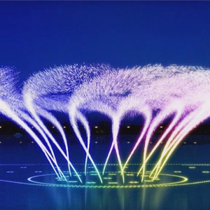Middle fountain pond floating fountains multimedia computer