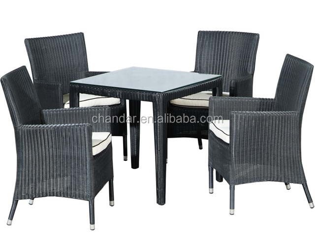 2017 rattan dining chair with cushion,stackable rattan chair