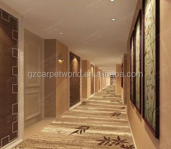 Leaf Pattern Carpet Flooring Corridor Bamboo